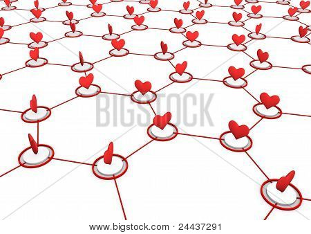 Love Network Concept