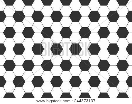 Seamless Pattern Of The Hexagonal Net Geometric Abstract Background Of White And Black Polygons Grap