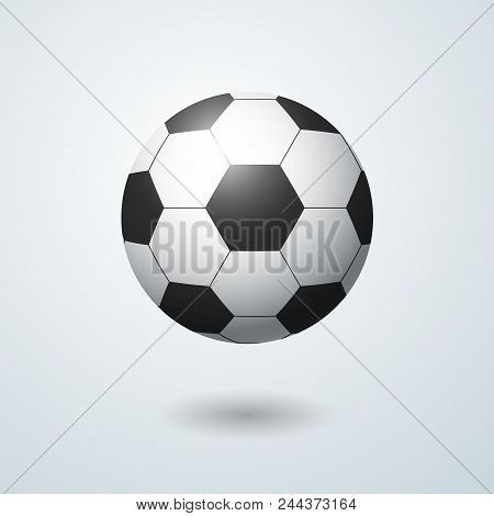 Soccer Ball On A Light Background With A Shadow A Symbol Of Football Sports Games Decorative Design