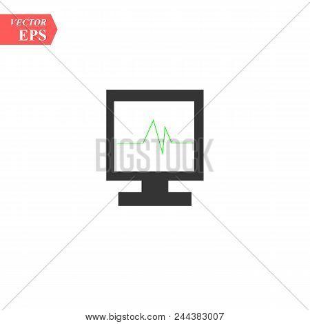 Web Line Icon. Pulse Monitoring. Heart Beat Monitor Eps 10