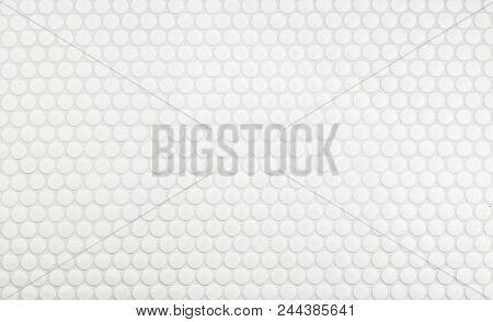 Round Circle Tile Backsplash In Kitchen - Background Or Texture