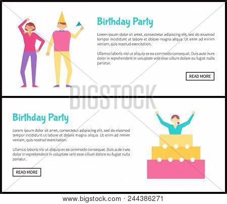 Fine Birthday Party Web Vector Photo Free Trial Bigstock Funny Birthday Cards Online Hetedamsfinfo