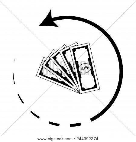 Money Back Icon. Cashback Symbol. Return Payment Money For Shopping, Cash Back And Rebate Money Guar