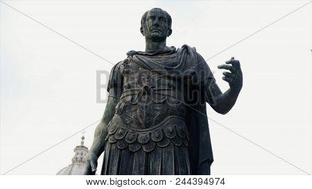 Julius Caesar Statue In Rome Rome, Italy. Stock. Video Of A Statue Of Julius Caesar.