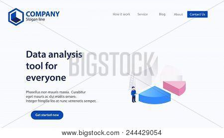Landing Page Website Theme Template Design Concept Vector