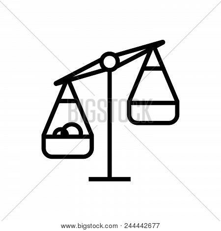 Scales Vector Icon On White Background. Scales Modern Icon For Graphic And Web Design. Scales Icon S
