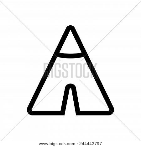 Camp Vector Icon On White Background. Camp Modern Icon For Graphic And Web Design. Camp Icon Sign Fo