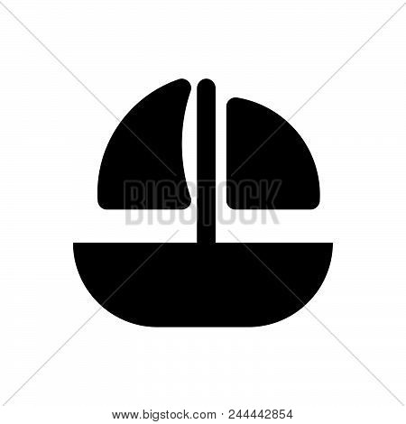 Sailing Ship Vector Icon On White Background. Sailing Ship Modern Icon For Graphic And Web Design. S