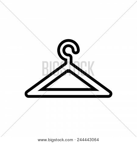 Hanger For Clothes Vector Icon On White Background. Hanger For Clothes Modern Icon For Graphic And W