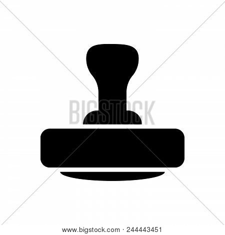 Stamp Vector Icon On White Background. Stamp Modern Icon For Graphic And Web Design. Stamp Icon Sign