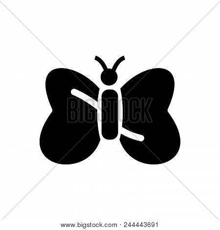 Butterfly Vector Icon On White Background. Butterfly Modern Icon For Graphic And Web Design. Butterf