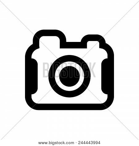 Photo Camera Vector Icon On White Background. Photo Camera Modern Icon For Graphic And Web Design. P