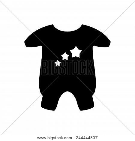 Baby Clothes Vector Icon On White Background. Baby Clothes Modern Icon For Graphic And Web Design. B