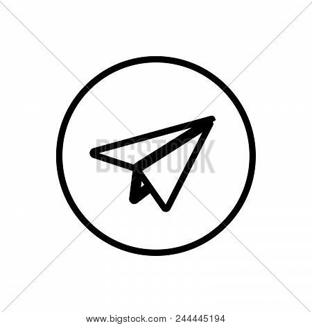 Message Vector Icon On White Background. Message Modern Icon For Graphic And Web Design. Message Ico