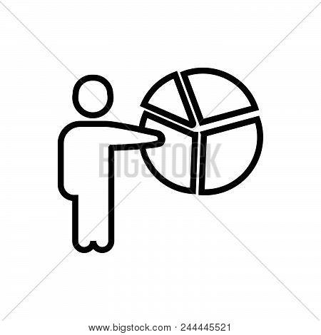 Presentation Outlined Symbol Of Delivering The Presentation. Presentation Icon. Presentation Icon. P