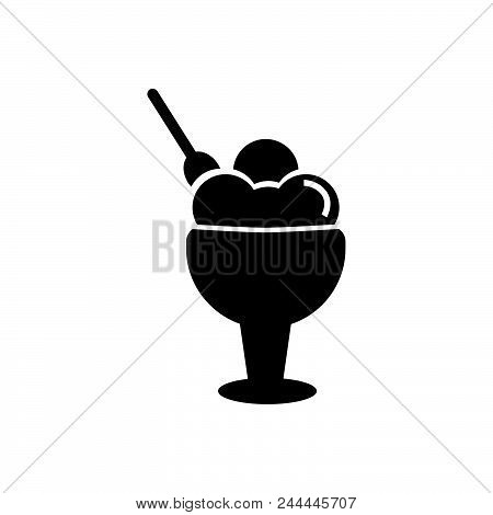 Ice Cream Vector Icon On White Background. Ice Cream Modern Icon For Graphic And Web Design. Ice Cre