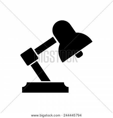 Table Lamp Vector Icon On White Background. Table Lamp Modern Icon For Graphic And Web Design. Table