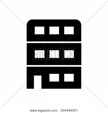 Building Vector Icon On White Background. Building Modern Icon For Graphic And Web Design. Building