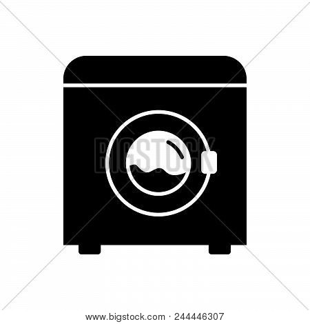 Washing Machine Vector Icon On White Background. Washing Machine Modern Icon For Graphic And Web Des