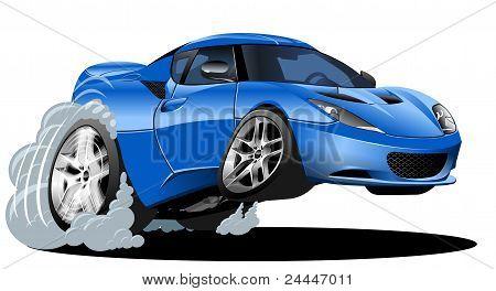 vector cartoon car
