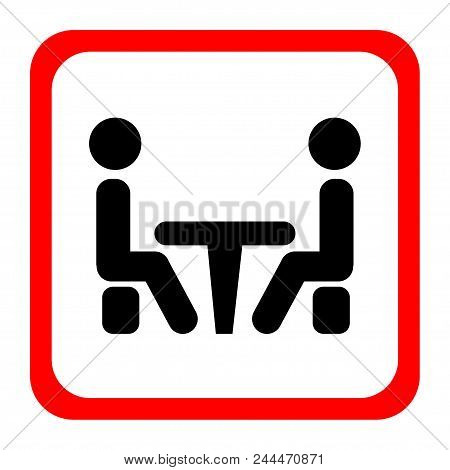 Conference Icon. People Sitting At The Table.conference Icon. People Sitting At The Table. Vector Il