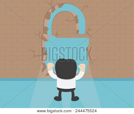 Business Concept Cartoon Illustration. Wall Of Success.successful