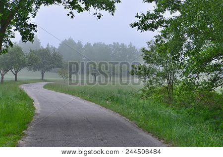 Morning View Of The Countryside In South Bohemia, Czech Republic