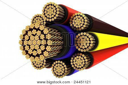 Copper electrical cable