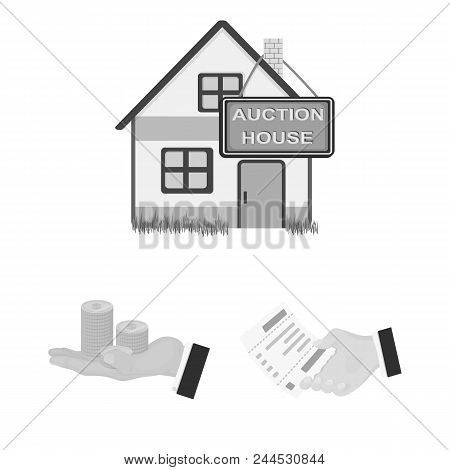 E-commerce And Business Monochrome Icons In Set Collection For Design. Buying And Selling Vector Sym