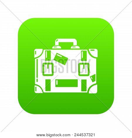 Travel Suitcase Icon. Simple Illustration Of Travel Suitcase Vector Icon For Web