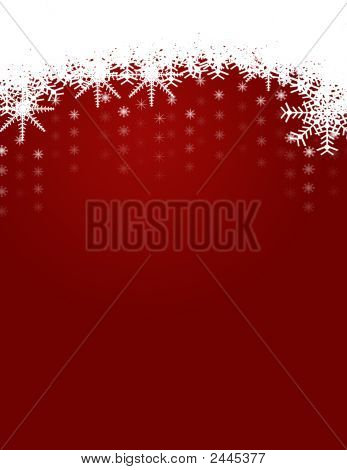 Winter And Christmas Background With Snowflakes