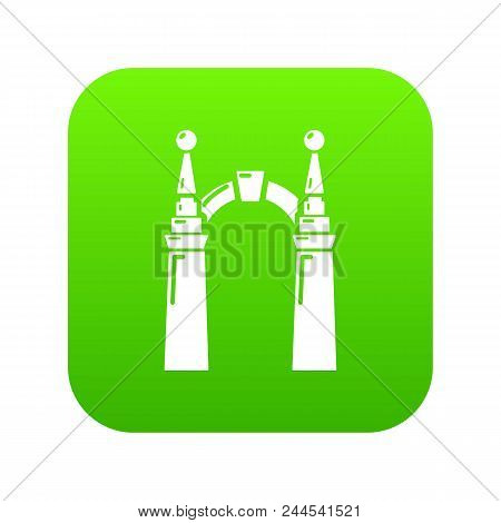 Archway Elf Icon. Simple Illustration Of Archway Elf Vector Icon For Web