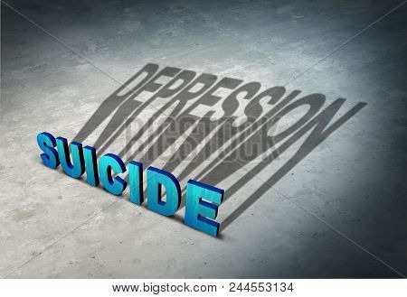 Suicide And Depression Warning Signs Of Hopelessness As A Mental Illness Health Concept As A Permane