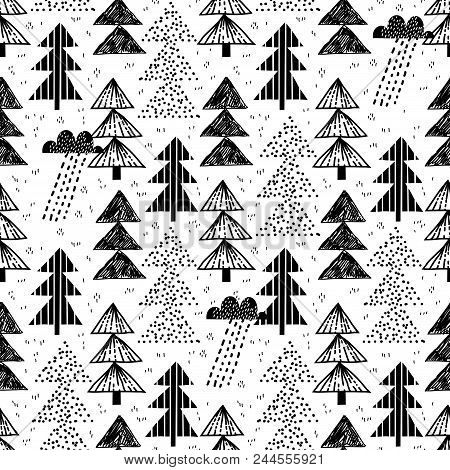 Childish Seamless Woodland Pattern. Perfect For Kids Apparel, Fabric, Textile, Nursery Decoration, W