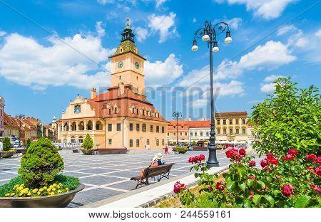 Central Council Square Brasov, Transylvania Landmark, Romania