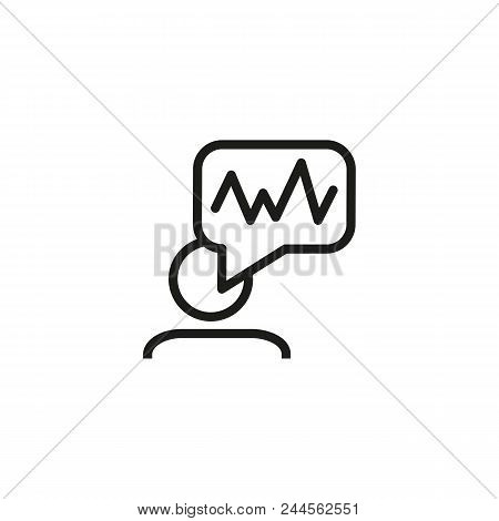 Voice Recognition Line Icon. Man, Speech Bubble, Tone, Soundwave. Identification Concept. Can Be Use