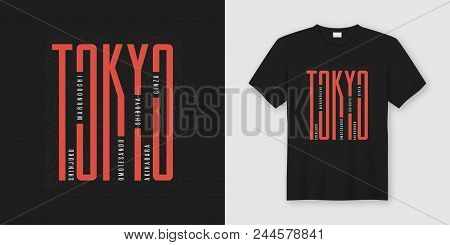 Tokyo City Stylish T-shirt And Apparel Design, Typography, Print, Vector Illustration. Global Swatch
