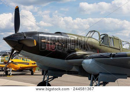 Berlin - April 27, 2018: Soviet Ground-attack Aircraft Ilyushin Il-2 Shturmovik Of The Great Patriot