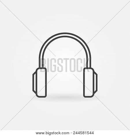 Headphones Simple Icon. Vector Headphone Concept Sign Or Design Element In Thin Line Style