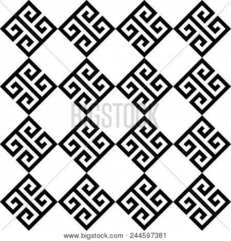 Typical Egyptian, Assyrian And Greek Motives. Greek Key. Arabic Geometric Texture. Islamic Art. Abst