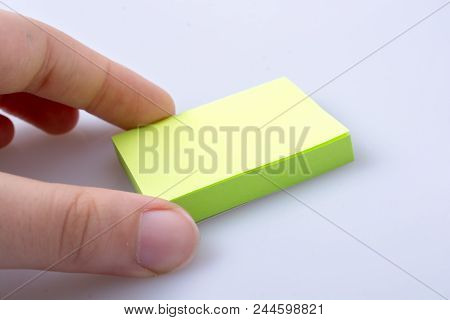 Post Note Office Sticker For Taking Notes In Hand