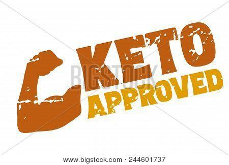 Ketogenic Diet Certified Rubber Stamp, Logo Design