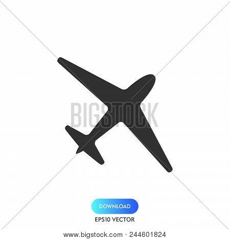 Airplane Icon Simple Vector Sign And Modern Symbol. Airplane Vector Icon Illustration, Editable Stro