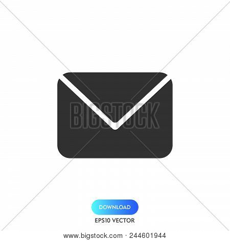 Email Icon Simple Vector Sign And Modern Symbol. Email Vector Icon Illustration, Editable Stroke Ele