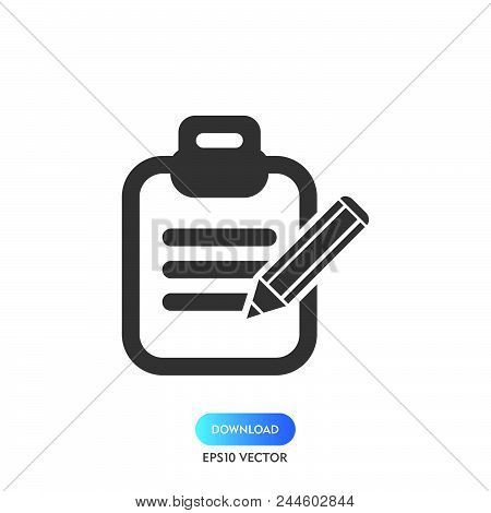 Task List Icon Simple Vector Sign And Modern Symbol. Task List Vector Icon Illustration, Editable St