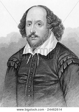William Shakespeare (1564-1616). Engraved by anonymous engraver and published in Dugdale's England and Wales Delineated, United Kigndom, 1848.
