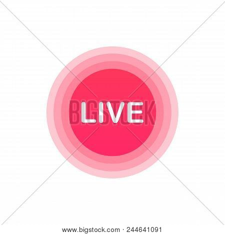 Live Stream Icon, Badge. Online Streaming Logo. Vector Stock Illustration.