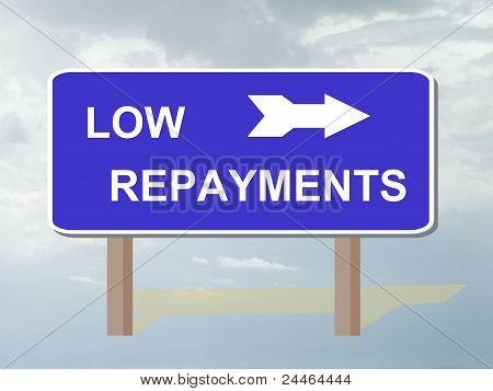 Low repayments
