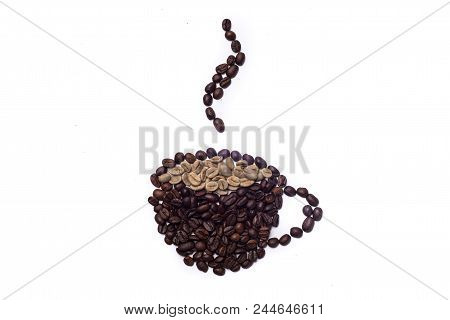 Coffee Cup Draw With Beans