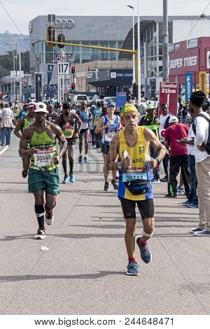 Runners Participating  In The Comrades Marathon In South Africa